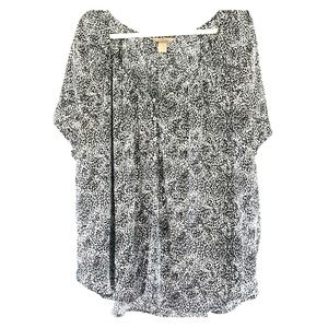 H&M blouse black and white 22